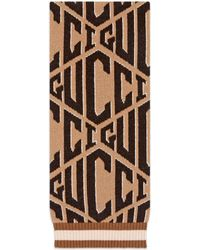Gucci - Game Wool Jacquard Scarf - Lyst