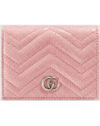 Gucci - グッチ〔GGマーモント〕カードケース パイソン ウォレット(コイン&紙幣入れ付き) - Lyst