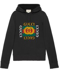 Gucci Sudadera oversized con logo - Negro