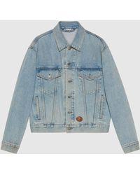 Gucci Jacke aus gewaschenem Denim - Blau