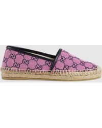 Gucci GG Multicolor Espadrille - Pink