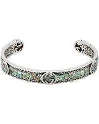 Gucci - Bracelet avec détail GG - Lyst