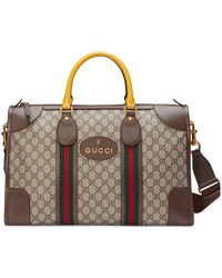 Gucci Neo Vintage Duffle Bag With Web - Natural