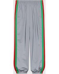 Gucci Jogginghose mit reflektierenden Streifen - Mettallic