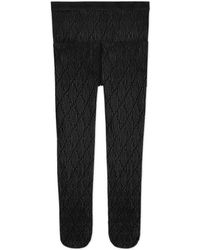 Gucci Interlocking G Tights - Black