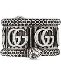 Gucci Anillo de plata con Doble G - Metálico