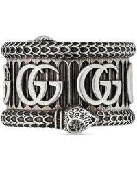 Gucci Ring aus Silber mit Doppel G - Mettallic