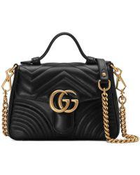 84561a097df4 Gucci Gg Marmont Matelassã© Mini Bag in Black - Save 36% - Lyst