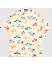 "Gucci Übergroßes ""Disney x "" Bowling Shirt - Weiß"