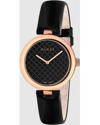 Gucci グッチ〔ディアマンティッシマ〕ミディアム ウォッチ(32mm) - ブラック