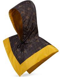 Gucci Kapuze aus Nylon mit Tiger-Print - Grau