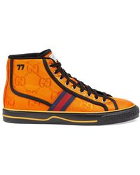 Gucci Off The Grid High Top Trainer - Orange