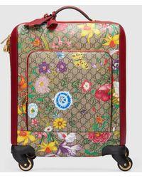 Gucci GG Handgepäckkoffer mit Flora Print - Natur