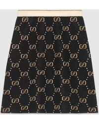 Gucci グッチGGウール ニットスカート - ブラック