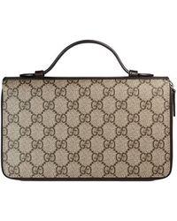 Gucci - Gg Supreme Travel Document Case - Lyst