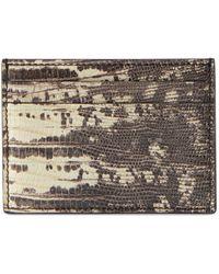 Gucci Brieftasche aus Leder mit Teju Print - Weiß