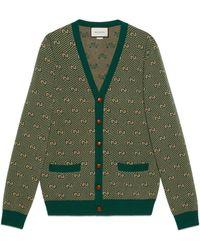 Gucci - Cárdigan de lana a rayas con GG - Lyst