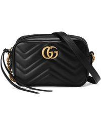 62b36f414 Lyst - Gucci GG Marmont Matelassé Leather Mini Shoulder Bag in White