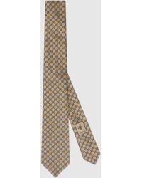 Gucci Krawatte aus GG Seide mit Bienen - Natur