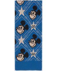"""Gucci """"Disney x """" Schal aus Wolle - Blau"""