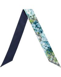 Gucci GG Blooms Silk Neck Bow - Blue