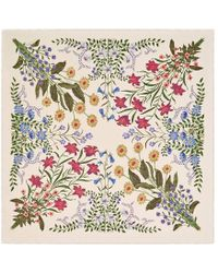 Gucci | New Flora Print Wool Silk Shawl | Lyst