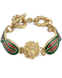 Gucci - Armband aus Metall mit Email-Details - Lyst
