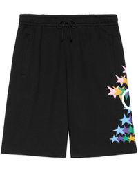 Gucci Short en coton à imprimé GG étoile éclatante - Noir