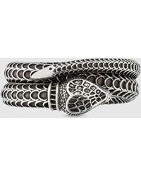 Gucci Garden Schlangen-Ring aus Silber - Mettallic