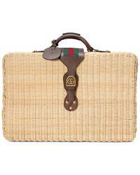 Gucci Wicker Suitcase - Multicolour