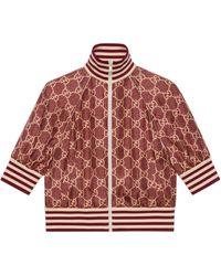 Gucci - GG Supreme Print Silk Jacket - Lyst