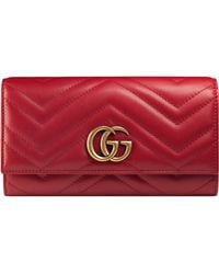 Gucci - GG Marmont Continental Wallet - Lyst
