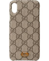 Gucci Étui pour iPhone XS Max Ophidia - Neutre