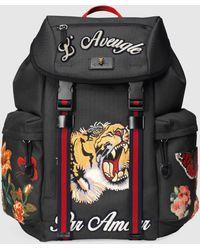 Gucci 'Techpack' Rucksack mit Stickerei - Schwarz