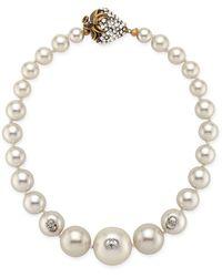 Gucci Pearl Necklace With Strawberry Closure - Multicolour