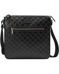 Gucci Signature Messenger Bag - Black