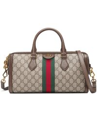 1bd826d018b Gucci Lady Lock Leather Top Handle Bag in Brown - Lyst