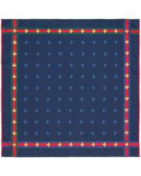 Gucci - Carré de soie pour pochette à motif abeilles avec ruban Web - Lyst 6c9b8d39e74