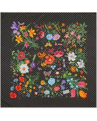 """Gucci Seidenschal mit """"Flora Star""""-Print - Schwarz"""