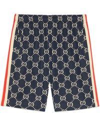 Gucci Shorts aus GG Jacquard - Blau