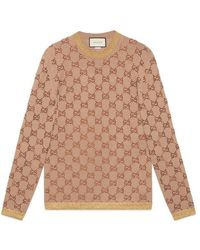 Gucci - Sweater With Crystal Gg Motif - Lyst