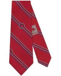 Gucci - Diagonal Stripes And G Silk Tie - Lyst