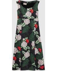 Gucci Ärmelloses Kleid aus Seide mit hawaiianischem Print - Schwarz