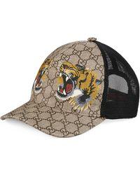 Gucci Cappellino da baseball GG Supreme con stampa tigre - Neutro