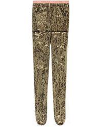 Gucci Collants à cristaux GG - Vert