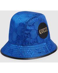 Gucci - 【公式】 (グッチ) Off The Grid フェドラハットブルー GG Econyl®ブルー - Lyst