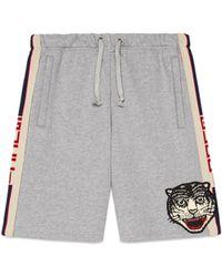 Gucci - Shorts in cotone con nastro - Lyst