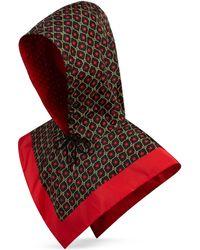 Gucci Kapuze aus Nylon mit GG Sternen-Print - Schwarz