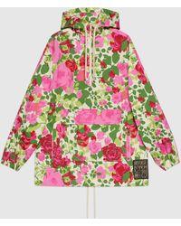 Gucci グッチケン・スコット プリント フード付き スウェットシャツ - ピンク