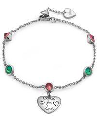 Gucci - Gg Blind For Love Bracelet - Lyst